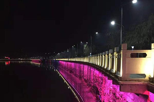 湖南永州桥梁照明/一河两岸