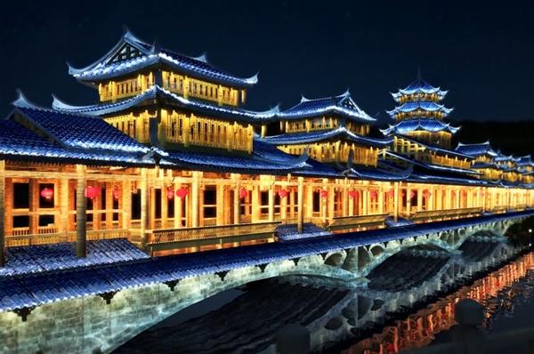 贵州古建照明