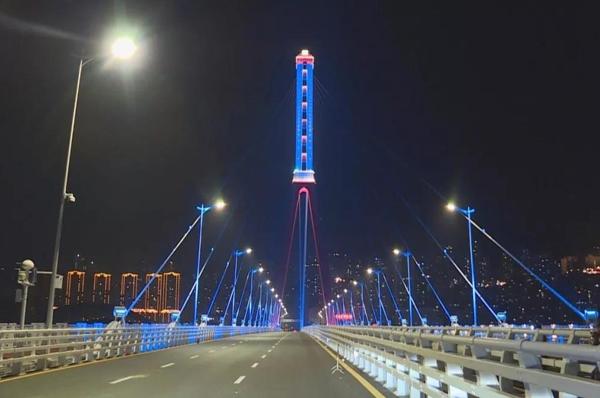万州长江三桥亮化